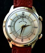 Jaeger Lecoultre Memovox Alarm Vintage Classique Elegant Menand039s Watch From 1950and039s