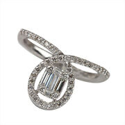 22x20x13 Mm Solid 18k White Gold Natural Pave Diamond Engagement Ring