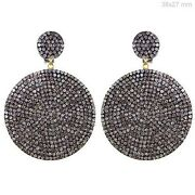 14k Gold Dangle Earrings 4.40ct Natural Diamond Pave Sterling Silver Jewelry Py
