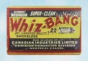 Home Decor Super Clean Whiz Bang Dry Lubricated Bullets Smokeless Metal Tin Sign