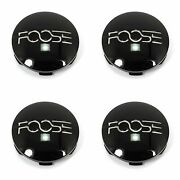 4 Foose Gloss Black Wheel Center Hub Caps 5lug Outcast F148 Outcast F150