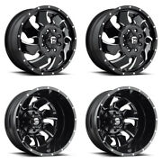 4 Fuel Off-road D574 Cleaver G-black Milled F/r Dually Wheels 8x170 20x8.25