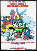 Just For Kids Home Video__orig. 1991 Trade Print Ad Promo__bozo The Clown_foofur