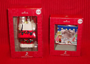 Hallmark Peanuts Snoopy Glass Ornament And Picture Frame Ornament