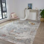 Yilong 7.9and039x11.2and039 Handmade Turkish Contemporary Rug Bamboo Silk Home Carpet T007