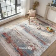 Yilong 7.9and039x11.2and039 Handmade Turkish Bamboo Silk Contemporary House Area Rug T016
