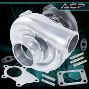 Jdm Sport Gt61 T3/t4 T04e Cast Iron Turbo Charger .50a/r .57 Compression Boost