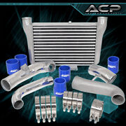 For Subaru Brz Frs Aluminum Front Mount Intercooler + Piping Kit Blue Couplers