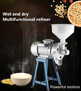 Electric Commercial Dry And Wet Beans Milk Refiner Rice Flour Grinder Feed Mill