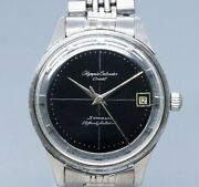 Orient Olympia Calendar Black Dial Hand Winding Vintage Watch 1960's