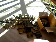 Vintage Antique Architectural Metal Door Knobs Locks, Dh And Misc. Large Lot