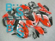 Red Decals Injection Fairing Plastic Kit Fit Kawasaki Zx-6r 07-08 34 A5