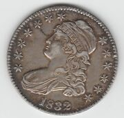 1832 Small Letters O-106 R-1 Capped Bust Silver Us Half Dollar Au