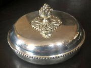 Vintage Silver Plate 1930 Raoul Monteillet French Art Deco Set Dish And Bowl