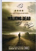 Walking Dead Promotional Posters Season 2 3 And 4 Autographed