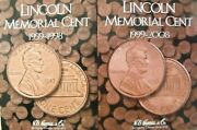 H.e. Harris Lincoln Cent 1959-1998+1999-to Date Coin Folders 2 Penny Folders