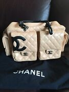 Authentic Large Ligne Cambon Quilted Leather Reporter Bag