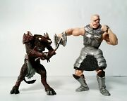 Chronicles Of Narnia Lot Of 2 Action Figures Cyclopse And Minotaur Hasbro 2005