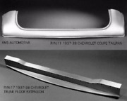 Chevrolet Chevy Coupe Tailpan Tail / Roll Pan Trunk Extension 1937-38 11/17 Ems