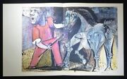 Pablo Picasso Hand Signed Special Large Lithograph Man With A Horse With Coa