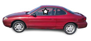 Fit 1998-2000 Ford Escort 2dr Coupe Driver Side Left Front Door Widow Glass