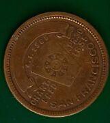 Masonic Penny Dated Apr 301855 California Chapter No. 5