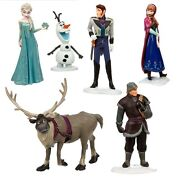 Frozen Elsa Anna Olaf Playset 6 Figure Cake Topper Fast Shipping Toy Doll Set
