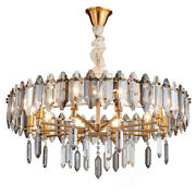 Crystal Chandelier Gold Lamp Dining Room Table Lighting Fixtures Ceiling Light