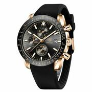 Stylish Wrist Watch For Men, Genuine Silicone Strap Watches, Perfect