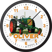 Oliver Row Crop 70 Large Black Round Wall Clock Farm Tractor Equipment Parts