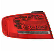 09-12 A4/10-12 S4 Outer Taillight Taillamp Rear Led Brake Light Lamp Left Side