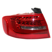 13-16 A4/a4 Quattro/s4 Outer Taillight Taillamp Led Brake Light Lamp Driver Side