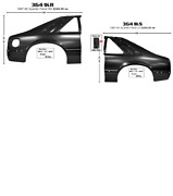 Ford Mustang Quarter Panel Set Left And Right 1987-1990