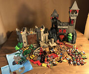 Huge Lot - Playmobil 3269 Rock Castle And 5783 Eagle Castle - Knights / Pirates