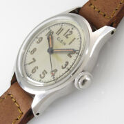 Elgin 3hands Arabic Numeral Index Manual Winding Vintage Watch 1950andrsquos Overhauled