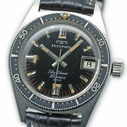 Technos Sky Diver 1903.2-68 Automatic Vintage Watch 1960's Overhauled
