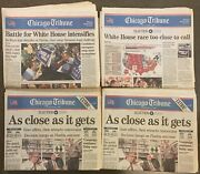 Newspaper Collection - Man On Moon, Kennedy, Oj, Election 2000 - 14 Issues