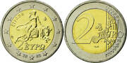25x Greece 2 Euro 2002 Abduction Of Europe By Zeus Bunc On Roll 25pcs