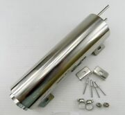 3 X 10 Polished Stainless Steel 32 Oz Radiator Overflow Tank Bottle Catch Can