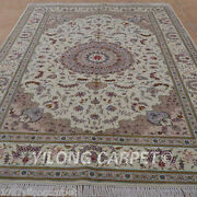Clearance Yilong 6and039x9and039 Hand Knotted Wool Carpets Weave Handiwork Area Rug 1428