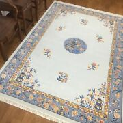 Yilong 6and039x9and039 Plain Color Hand Knotted Chinese Art Deco Wool Rug Craft Carpets