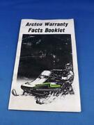 Arctco Warranty Facts Booklet Arctic Cat Snowmobile 1991 Collector