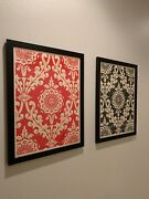 Shepard Fairey Parlor Pattern Inverse Cream Set Signed Numbered Two Prints