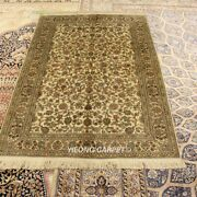 Yilong 4and039x6and039 300lines Handwoven Rug High Density Hand Knotted Silk Carpets L987h