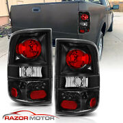 2004-2008 Black Replacement Back Brake Tail Lights Lamp Pair For Ford F150 F-150