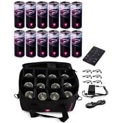 Ape Labs Can Se Roadpack 12 Wireless Rechargeable Led Uplights Softbag Remote