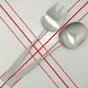 Extremely Rare Extra Long Lauffer Bedford 2 Piece Salad Serving Fork And Spoon Set