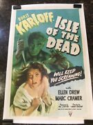 Isle Of The Dead Original Movie Poster 27 X 41 C8.5 Very Fine To Near Mint