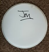 Jon Moss And039culture Cluband039 Hand Signed In Person 10 White Drum Skin.