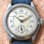 Oreba Small Second Ref 32 Manual Winding Vintage Watch 1950and039s Overhauled